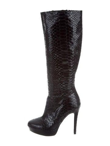 Alexandre Birman Python Knee-High Boots None