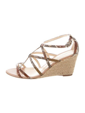 Alexandre Birman Snakeskin Multistrap Wedges None