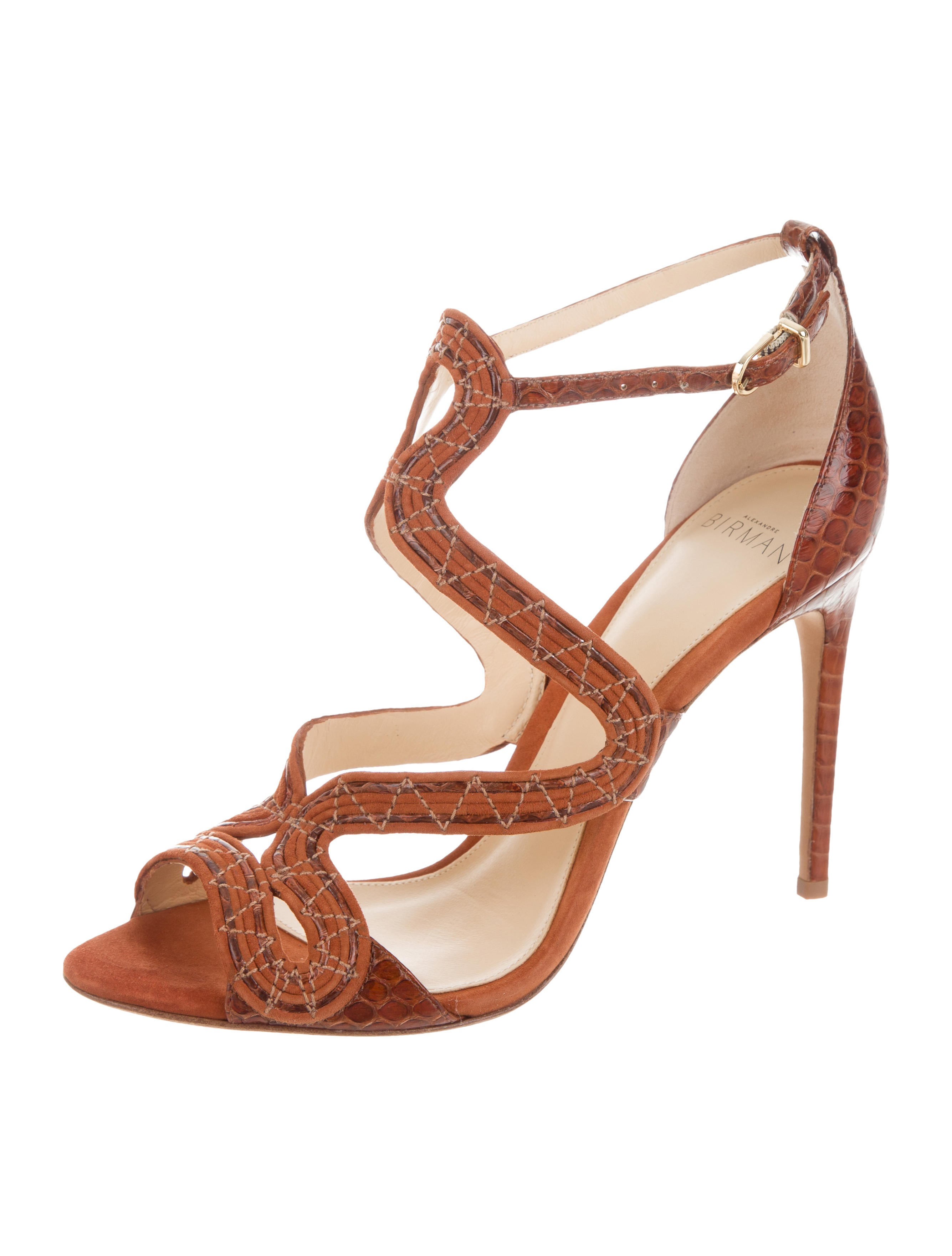 Alexandre Birman New Alice Snakeskin Sandals w/ Tags outlet cost jybQ6ox