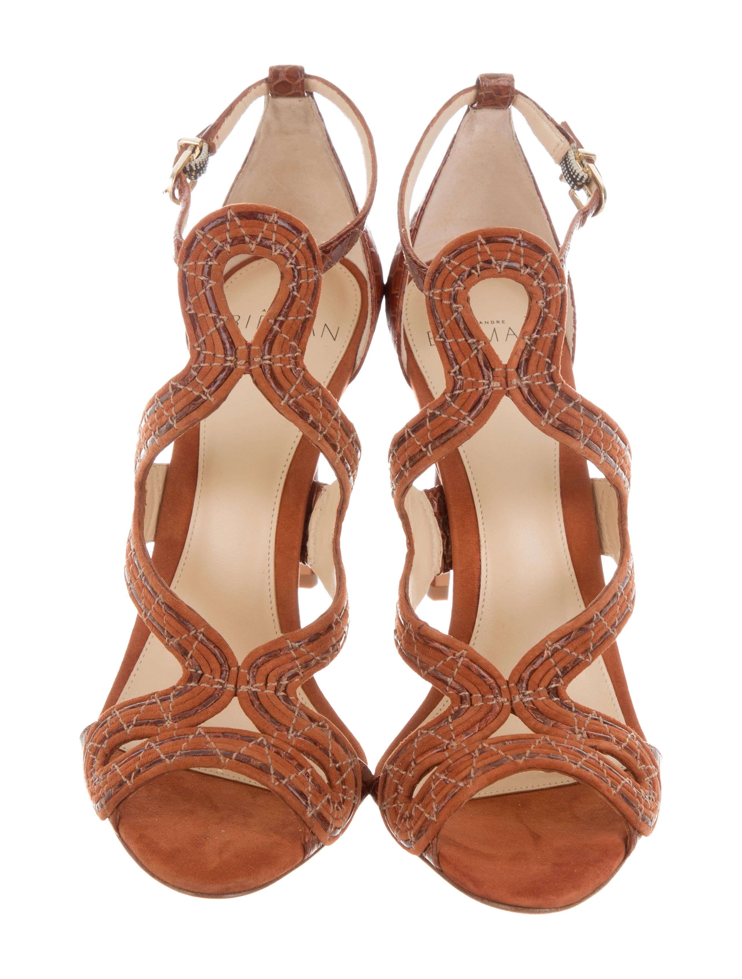 Alexandre Birman New Alice Snakeskin Sandals w/ Tags cheap sneakernews browse cheap sale low shipping fee dU8QDPk7