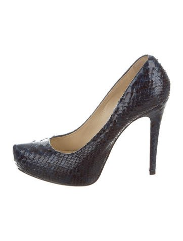Alexandre Birman Python Platform Pumps None