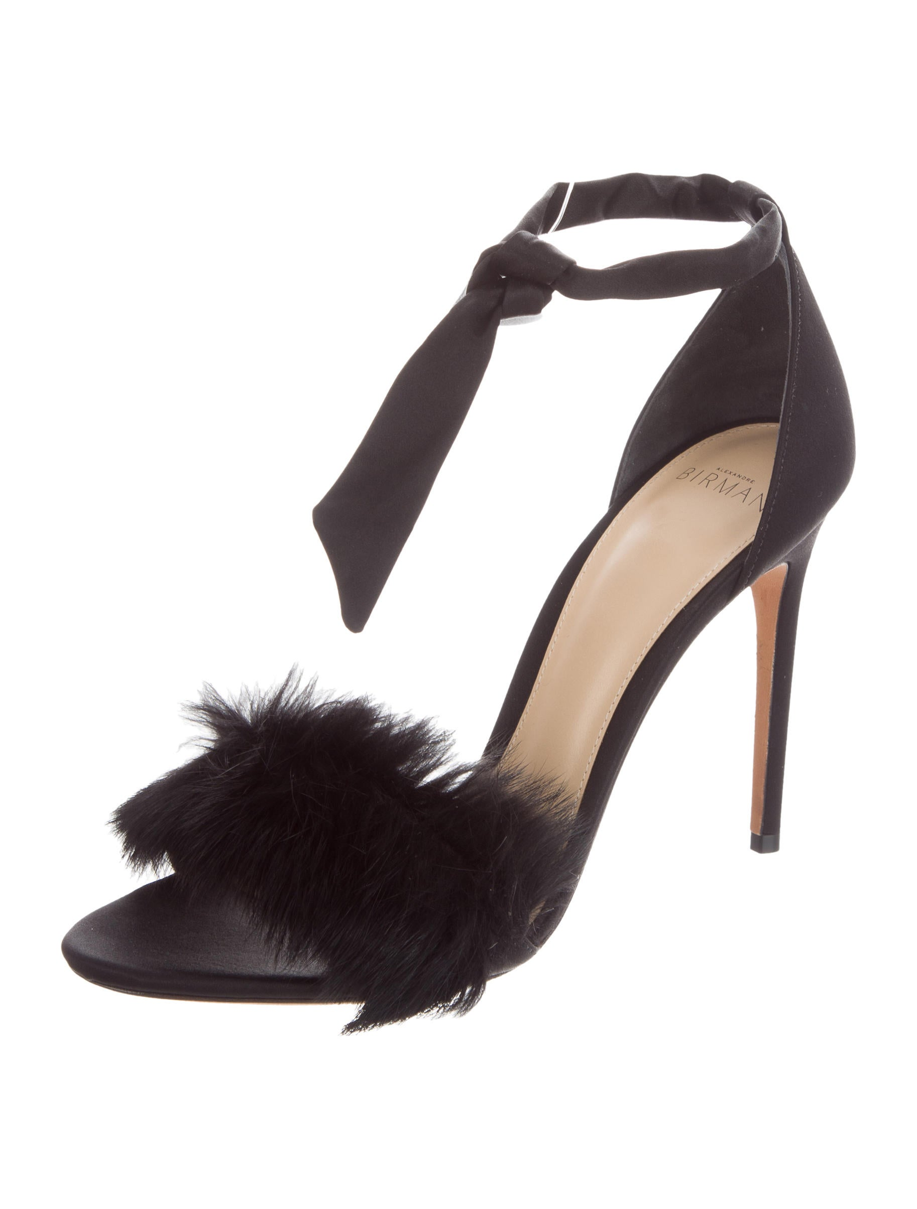 Alexandre Birman 2018 Fur-Accented Sandals free shipping pay with visa clearance wholesale price sale huge surprise clearance extremely RSKfBl4Usd