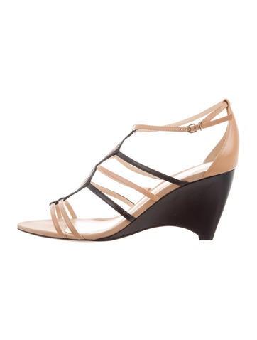 Alexandre Birman Leather Wedge Sandals None