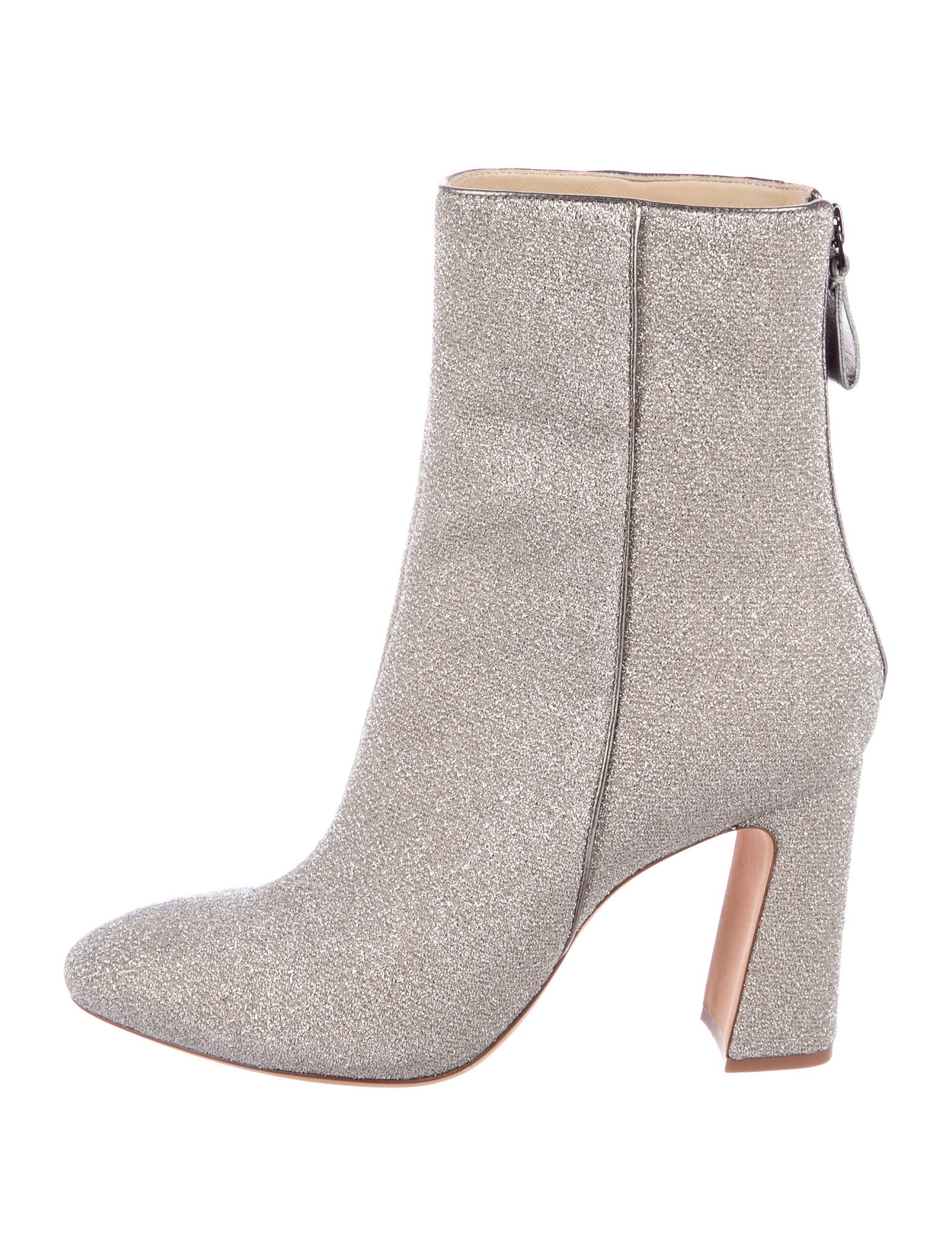 Alexandre Birman Metallic Knit Ankle Boots