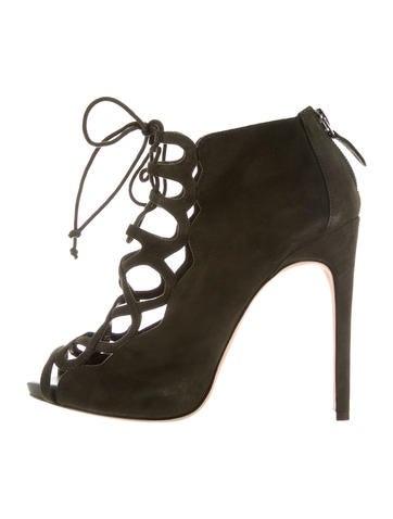 Alexandre Birman Cage Lace-Up Booties None