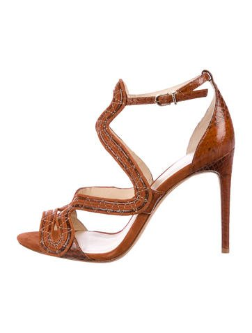 Alexandre Birman Embossed Caged Sandals low price fee shipping cheap online clearance purchase discount best store to get lowest price for sale KQ5UkWhE