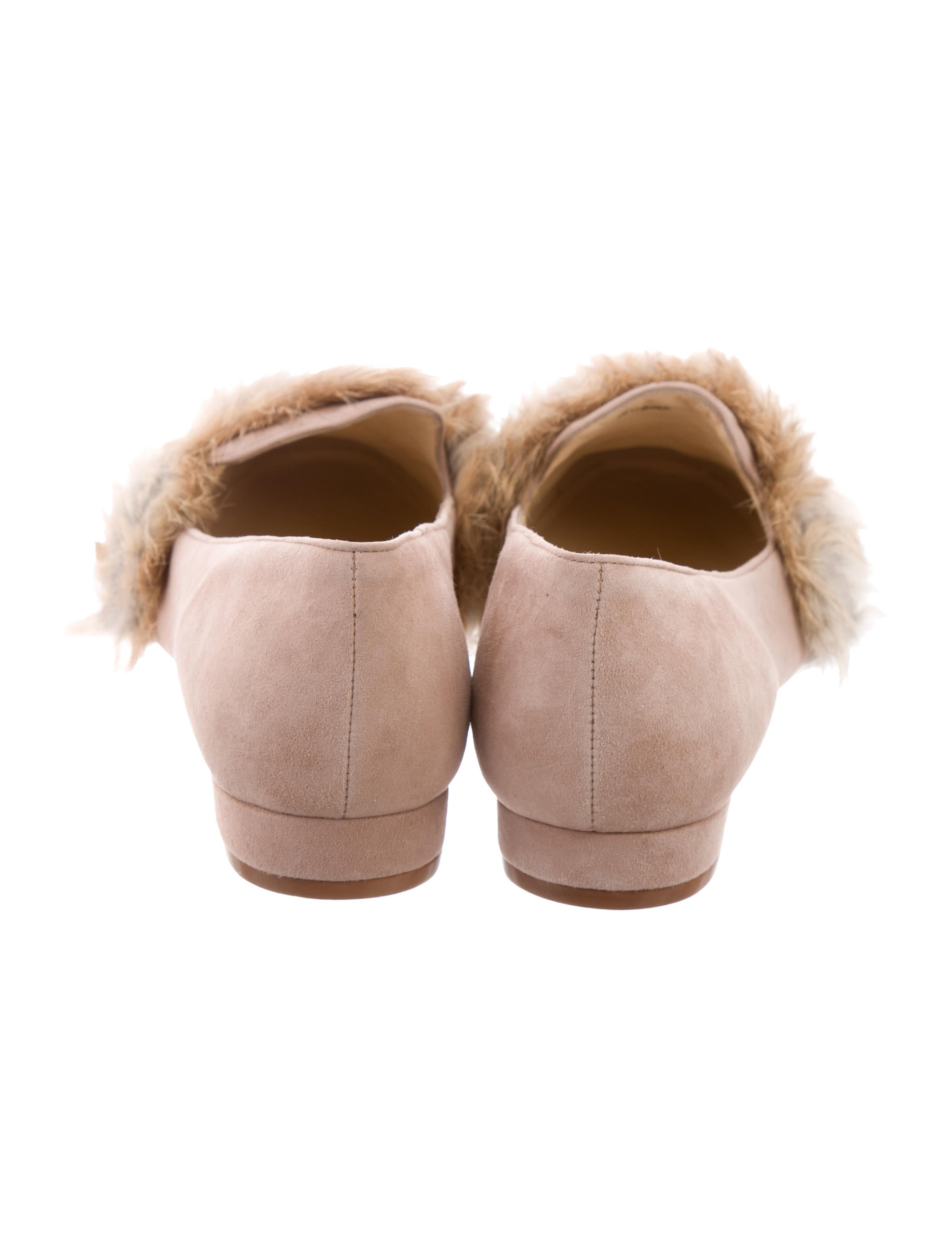 free shipping sast Alexandre Birman Fany Fur-Accented Flats w/ Tags free shipping new buy cheap pay with visa clearance under $60 under 50 dollars a5lfA5obJ