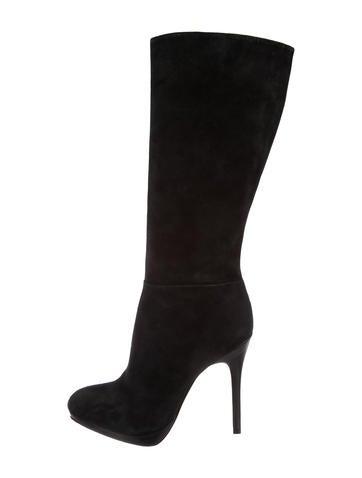 Alexandre Birman Suede Knee-High Boots None