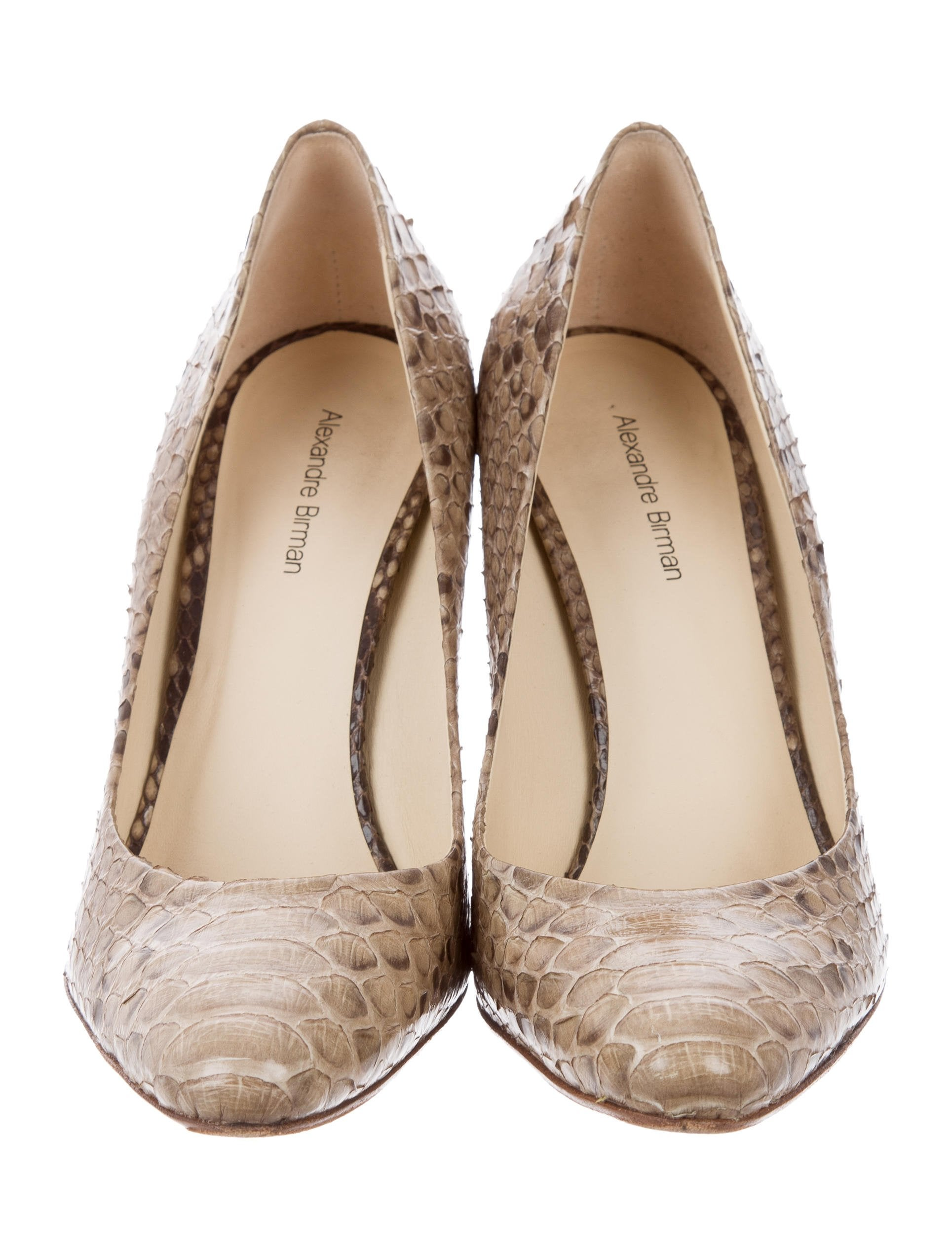 Alexandre Birman Snakeskin Pointed-Toe pumps clearance online official site R5F0QXpN