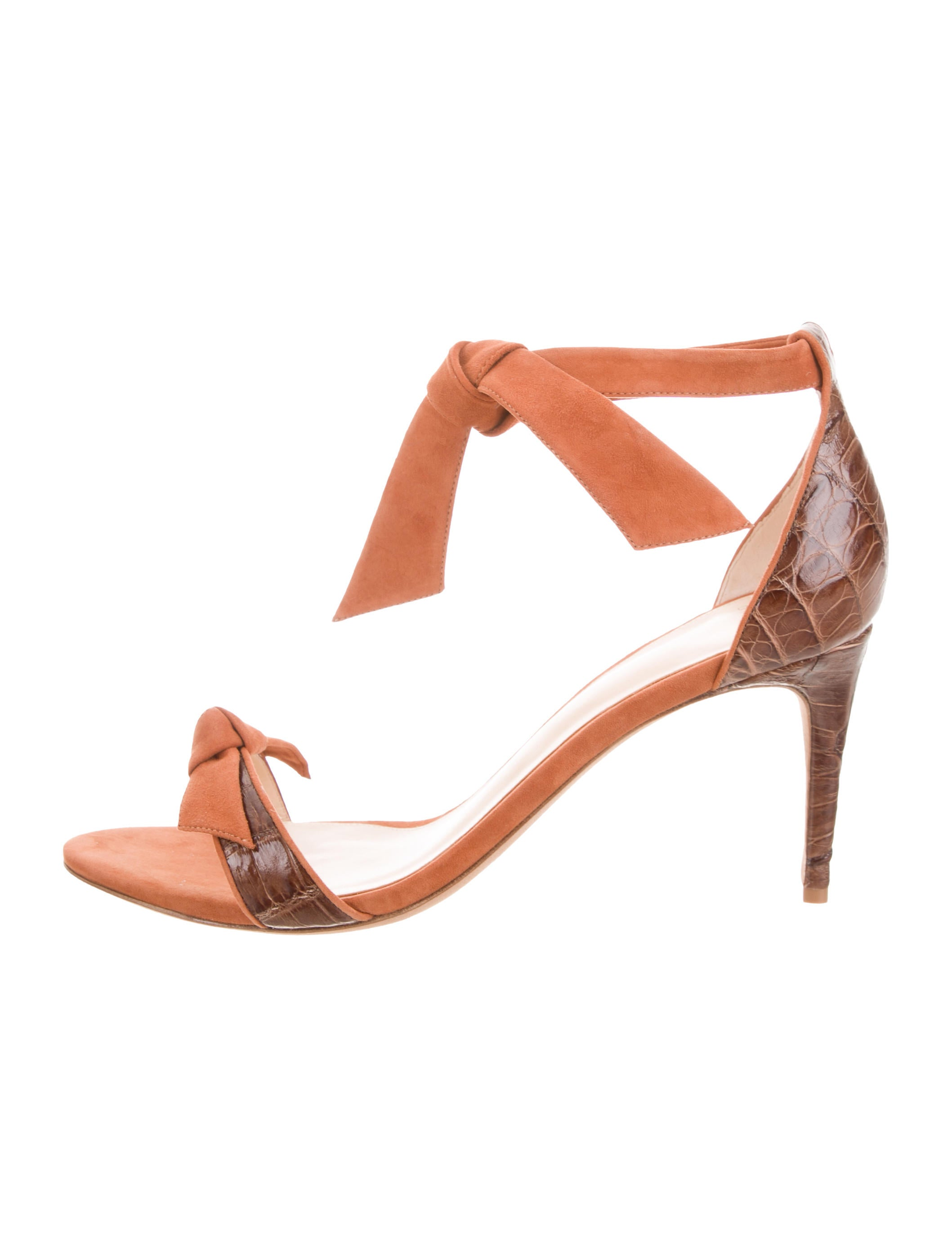 cheap price store Alexandre Birman Alligator-Trimmed Wrap-Around Sandals sale new arrival clearance popular cheap sale wide range of geniue stockist for sale Pye5X