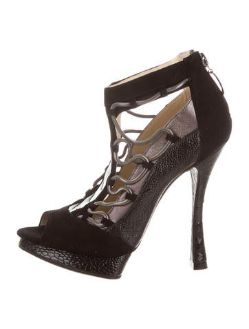 Alexandre Birman Cutout Chain-Link Ankle Booties None