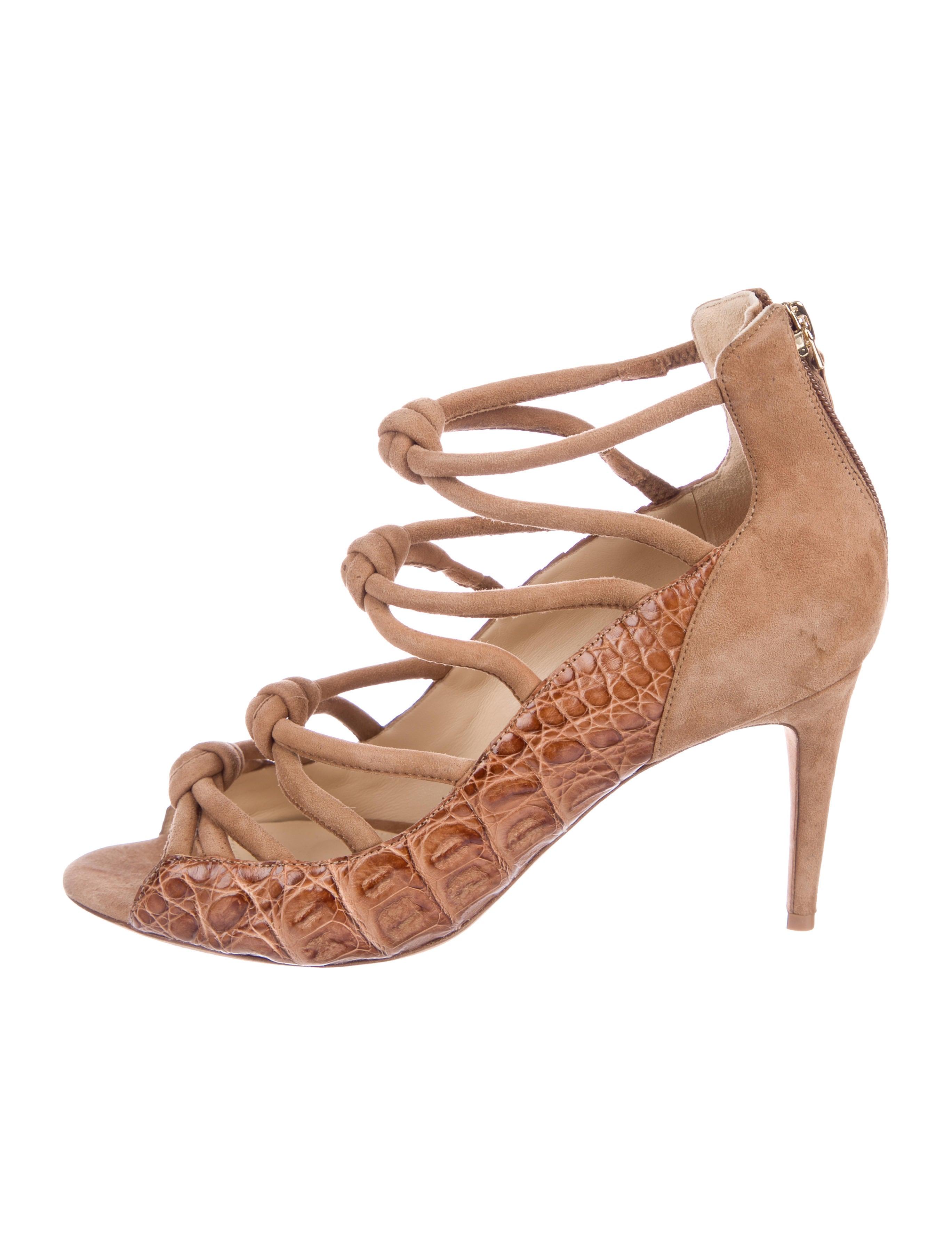 clearance sast Alexandre Birman Suede Crocodile Sandals cheap websites discounts for sale authentic sale footlocker 0SVuXGCN