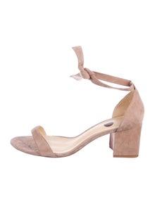 89ddf0133b2 Alexandre Birman. Suede Ankle Strap Sandals