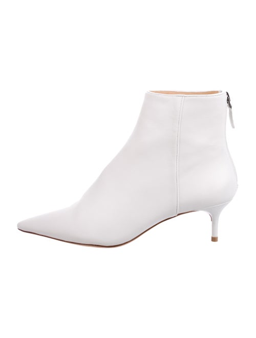 Alexandre Birman Leather Ankle Boots White