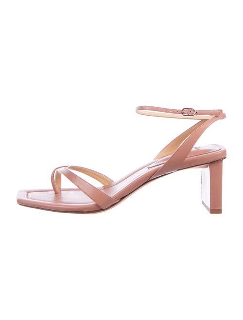 Alexandre Birman Nelly Leather Sandals Pink