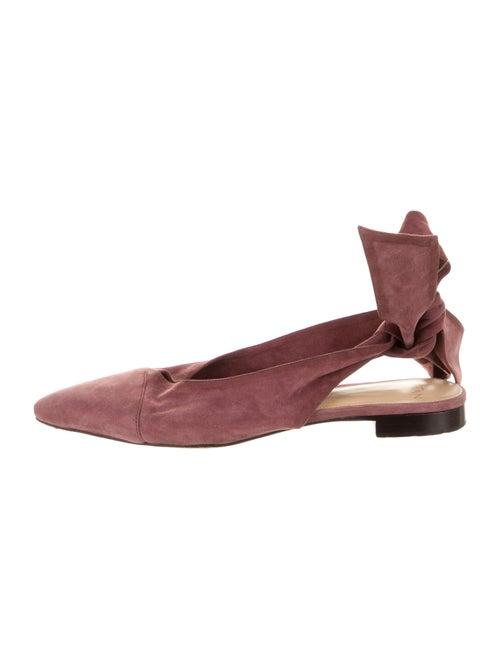 Alexandre Birman Suede Slingback Flats Pink