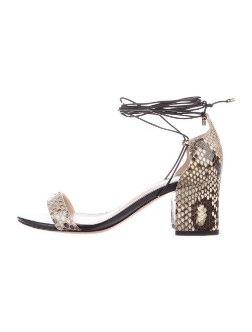Alexandre Birman Snakeskin Animal Print Sandals