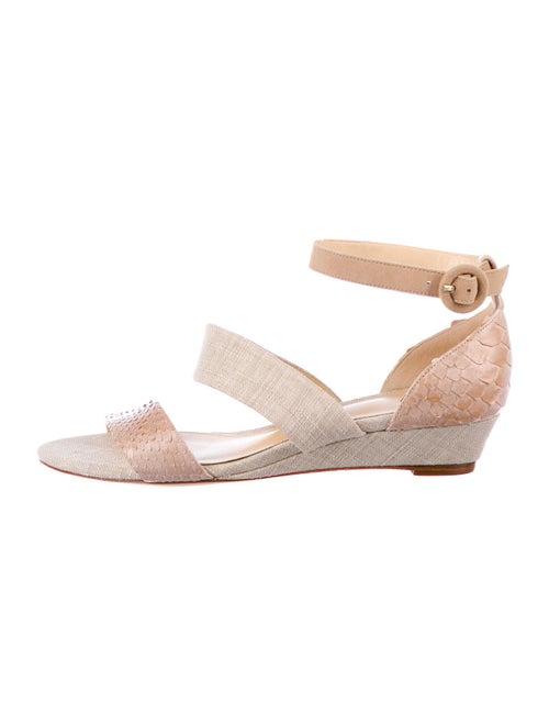 Alexandre Birman Snakeskin Sandals Pink