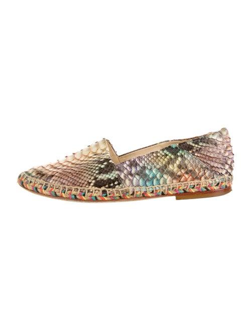 Alexandre Birman Python Flats Pink