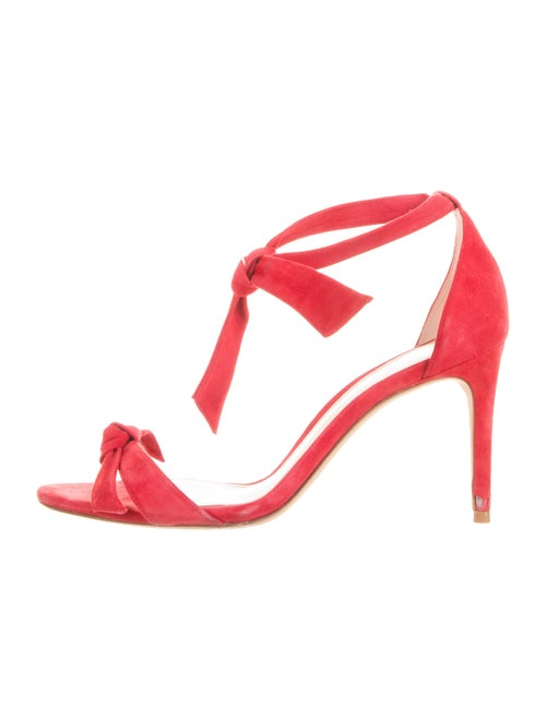 Alexandre Birman Suede T-Strap Pumps Red