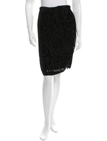 Altuzarra Velour Printed Skirt