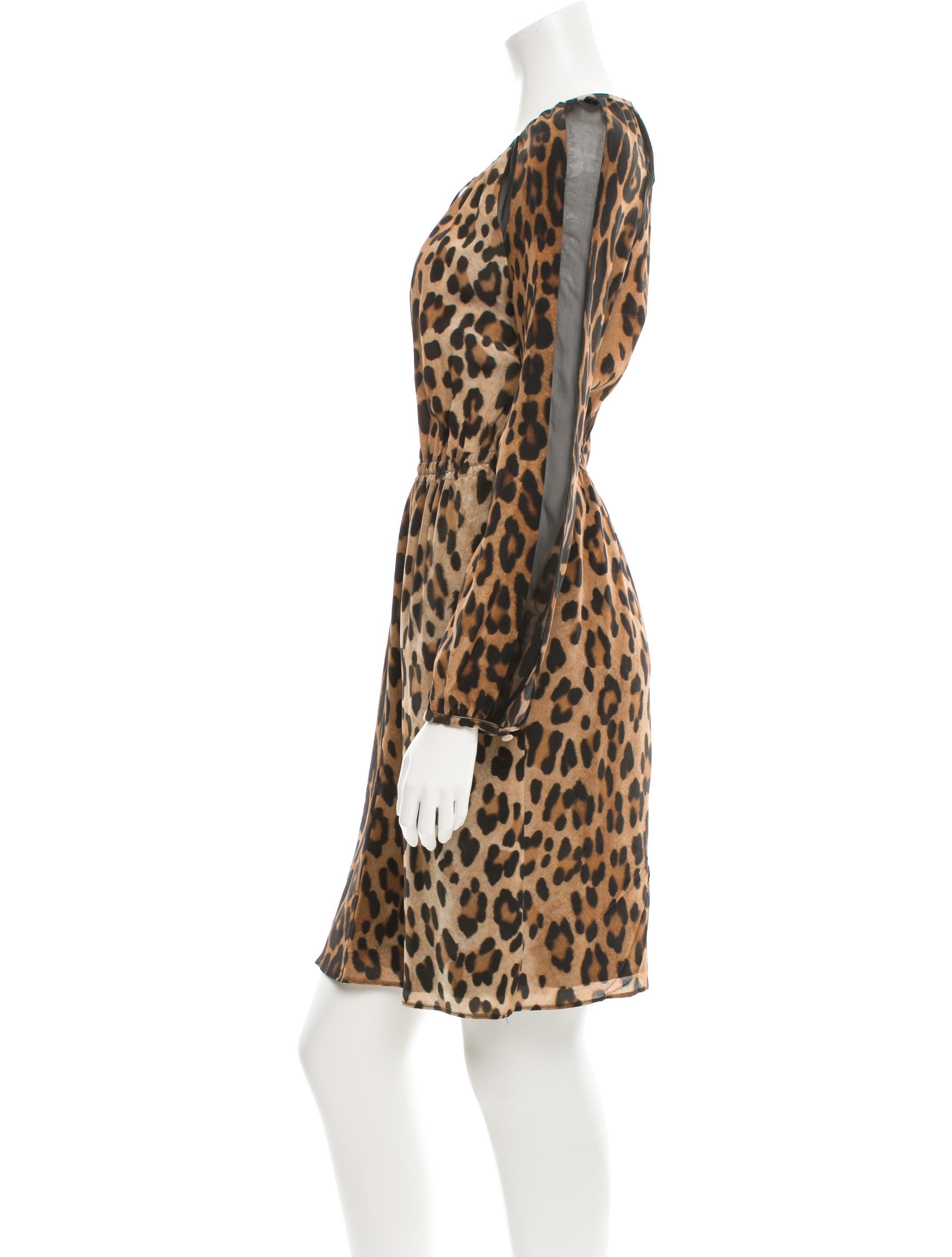 altuzarra cinched cheetah print dress clothing