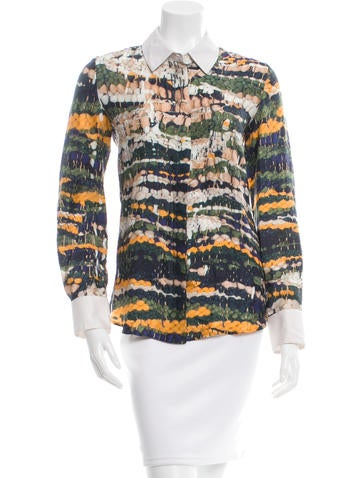 Altuzarra Printed Silk Top