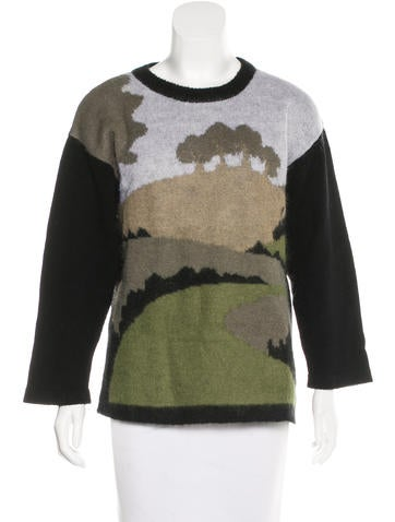 Altuzarra Graphic Pattern Knit Sweater None