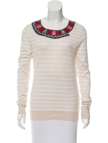 Altuzarra Embroidered Striped Sweater None