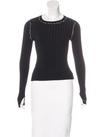 Altuzarra Fitted Long Sleeve Sweater None