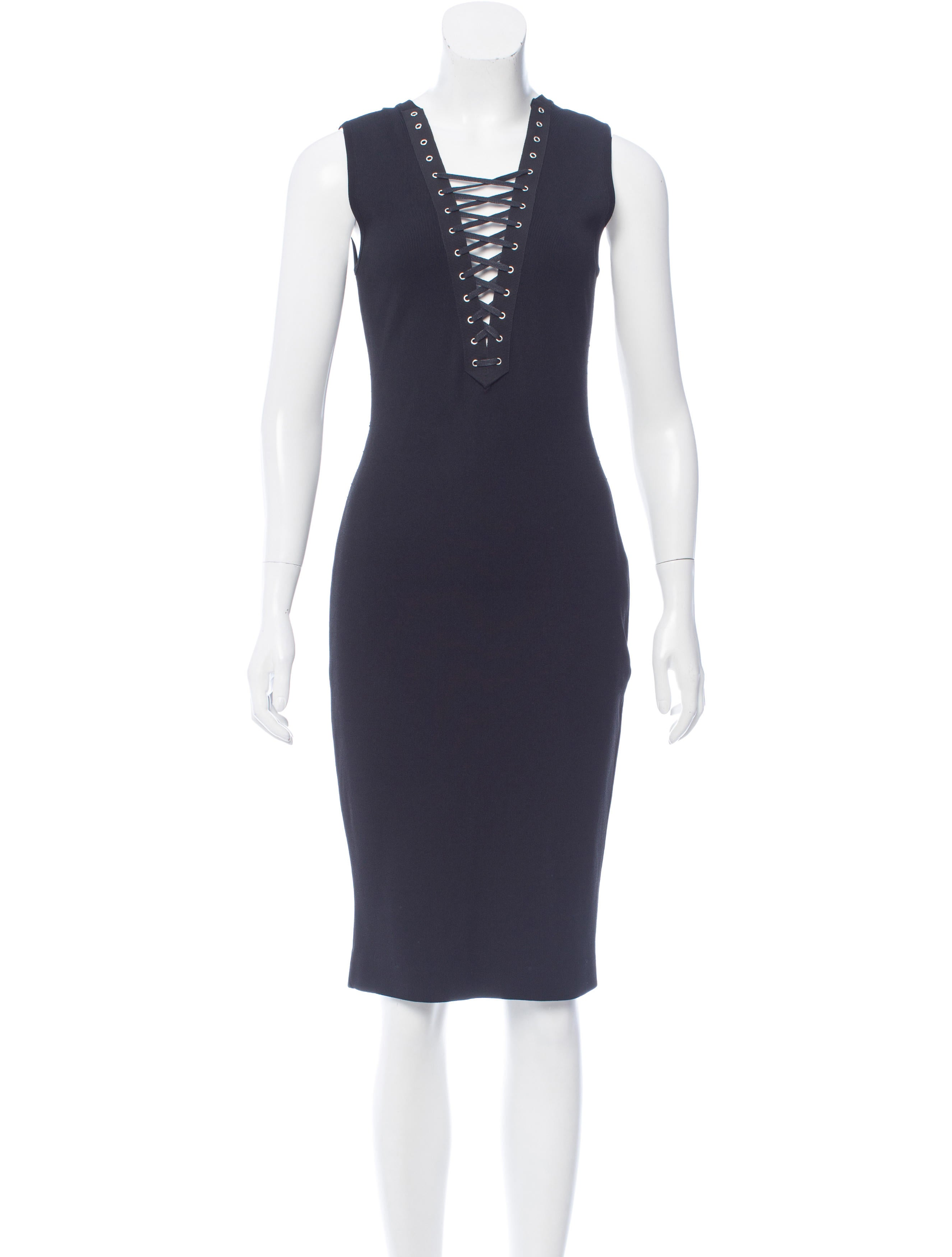 Altuzarra Lace Up Fitted Midi Dress Clothing Alt21868