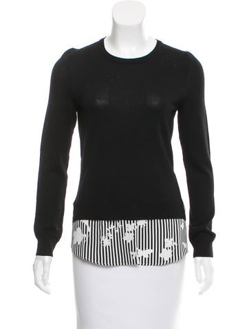 Altuzarra Silk-Trimmed Wool Top None