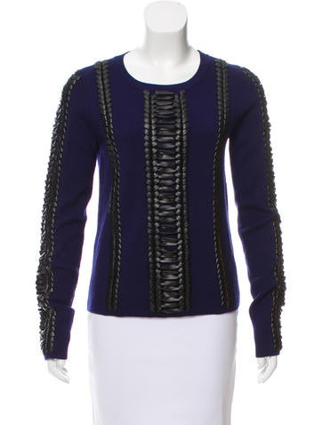 Altuzarra Braid-Accented Wool Sweater None