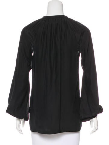 Silk Long Sleeve Top