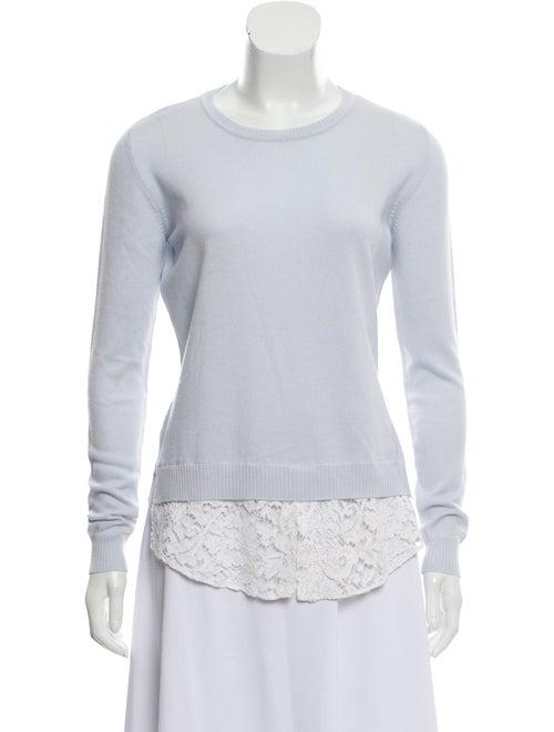 Altuzarra Lace-Trimmed Lightweight Sweater blue