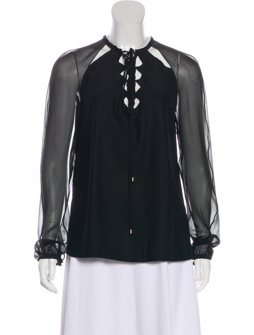 Altuzarra Long Sleeve Silk Blouse Black