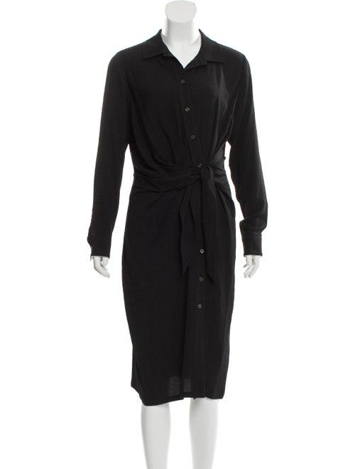 Altuzarra Button-Up Midi Dress Black