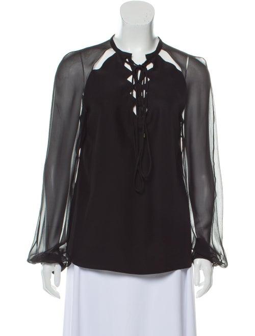 Altuzarra Silk Long Sleeve Blouse Black