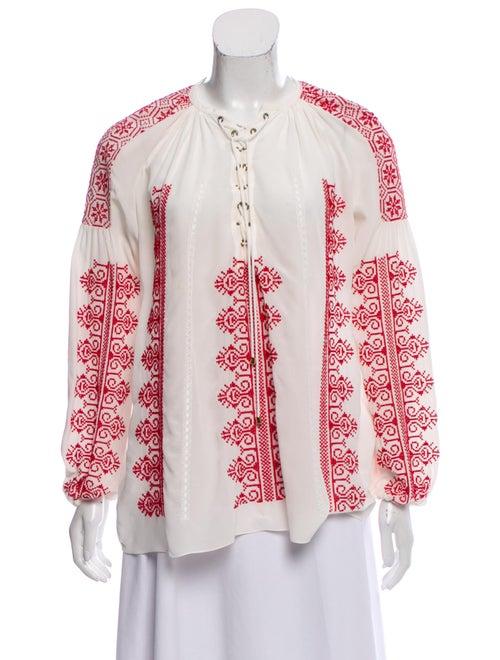 Altuzarra Silk Printed Blouse White