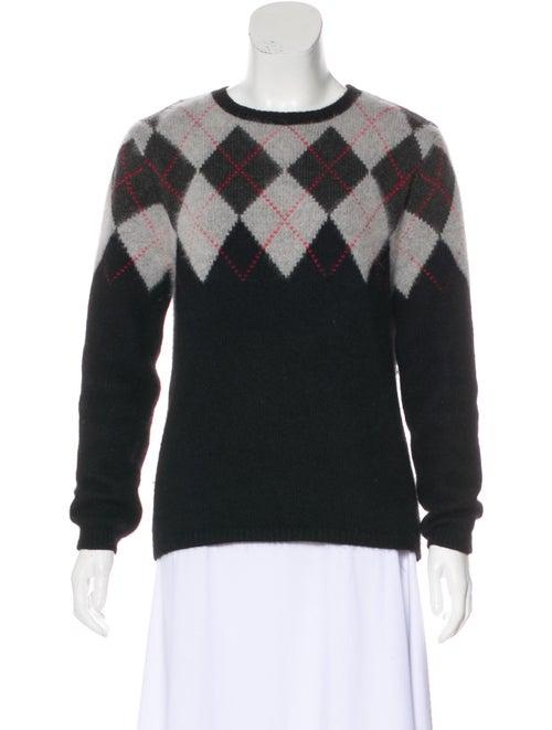 Altuzarra Argyle Angora Sweater Black