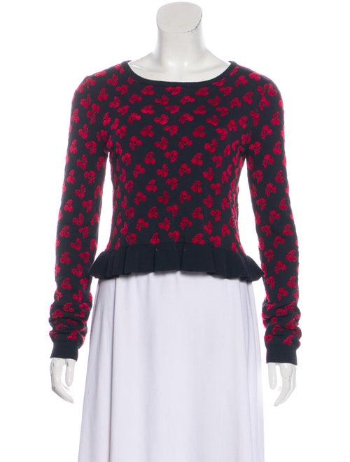 Altuzarra Flocked Cropped Sweater Black