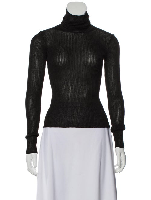 Altuzarra Turtleneck Long Sleeve Top Black