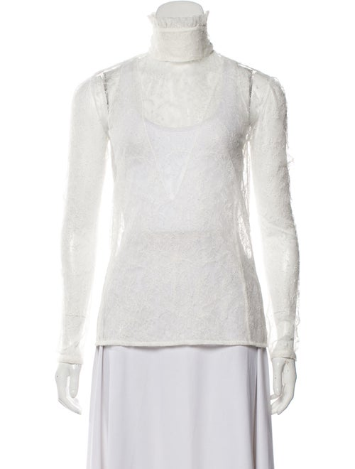 Altuzarra Turtleneck Long Sleeve Top White