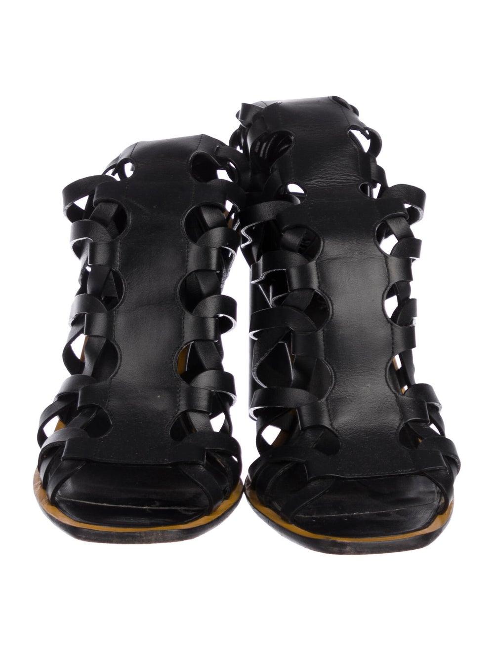 Altuzarra Caged Lace-Up Sandals Black - image 3