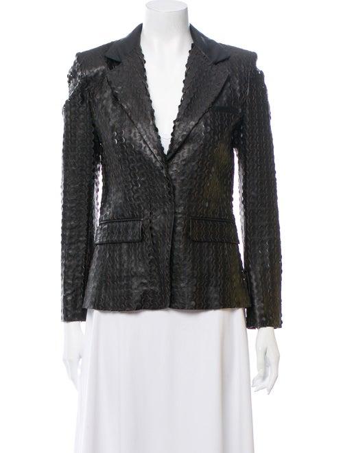 Altuzarra Lamb Leather Blazer Black