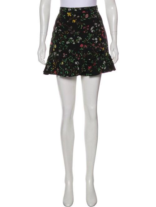 Altuzarra Silk Mini Skirt Black