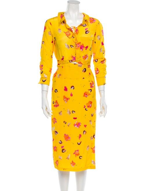 Altuzarra Silk Long Dress Yellow