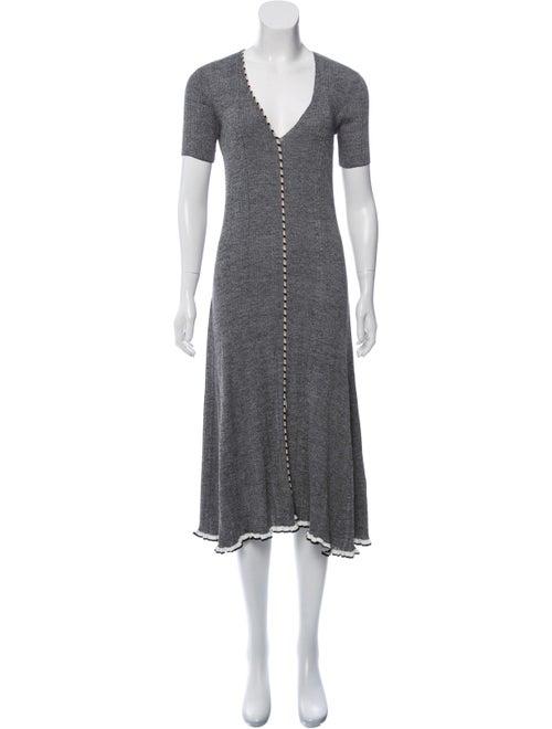 Altuzarra Knit Midi Dress Black