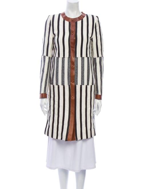 Altuzarra Striped Coat Black