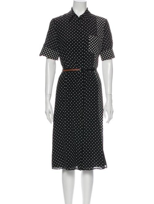 Altuzarra Silk Midi Length Dress Black - image 1